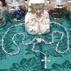 Swarovski Crystal Lavender Rosary.